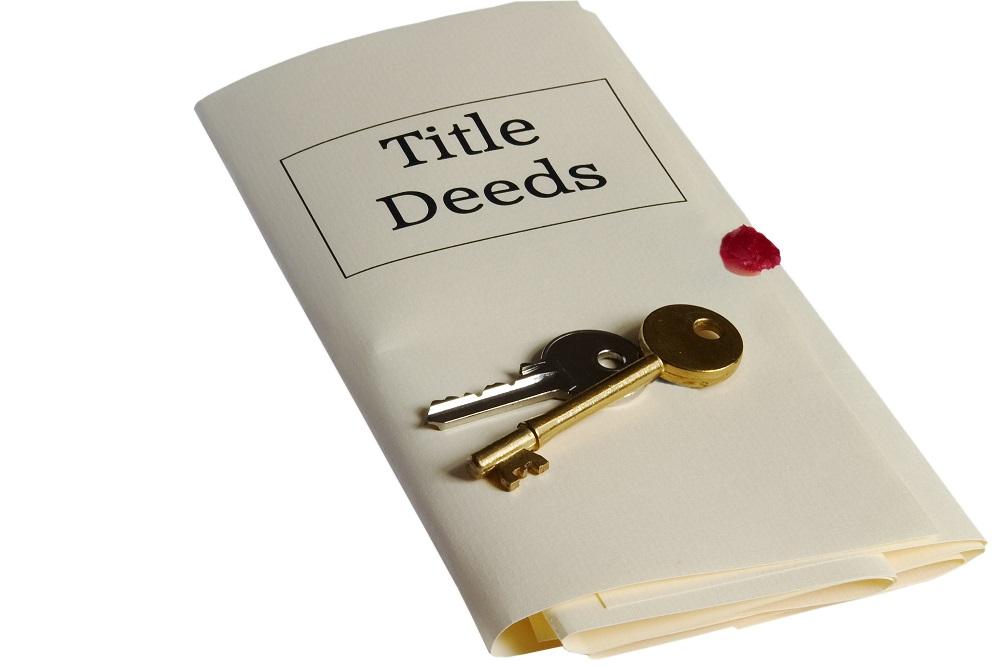 Sealed title deeds and keys