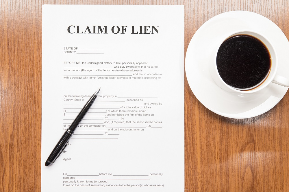 Lien on property