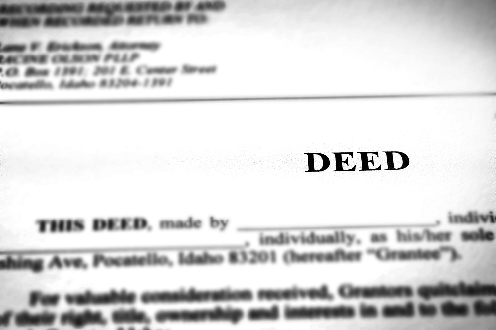 Real estate deed documents