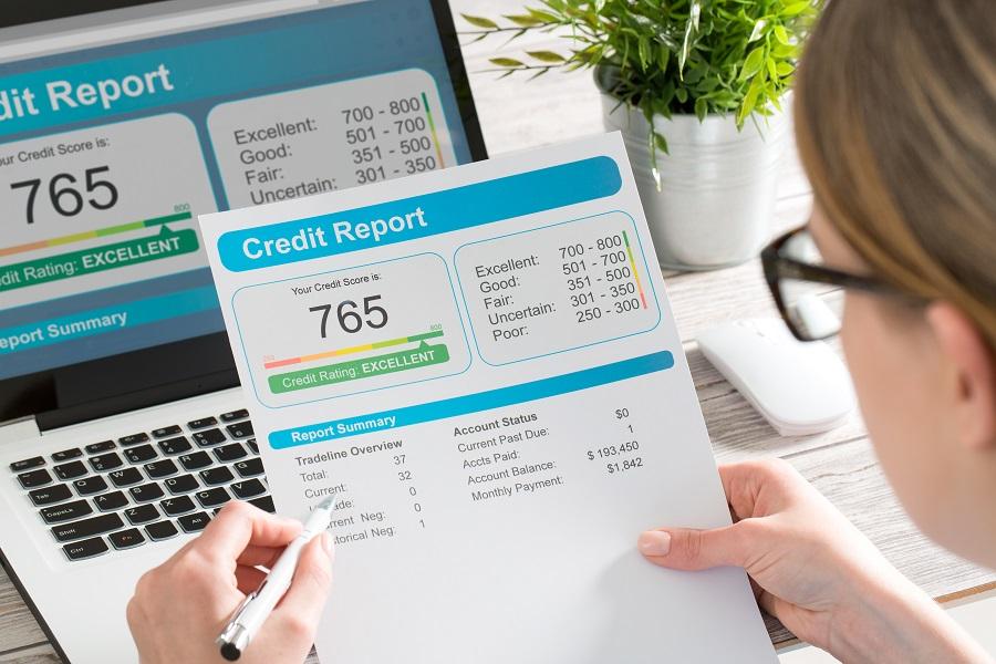 Reviewing credit report