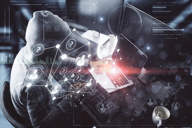 Cybercriminal on Laptop